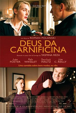 Capa do filme 'Deus da Carnificina'