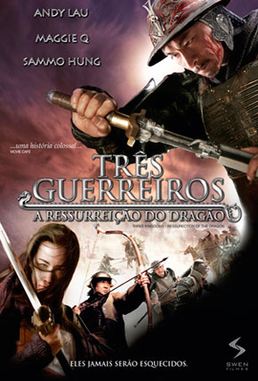 Capa do filme 'Três Guerreiros - A Ressurreição do Dragão'