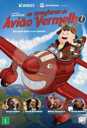 Capa do filme 'As Aventuras do Avião Vermelho'