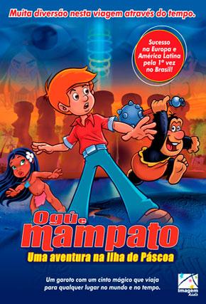 Capa do filme 'Ogú e Mampato - Uma Aventura na Ilha de Pascoa'