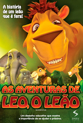 Capa do filme 'As Aventuras de Leo, o Leão'