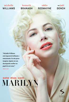 Capa do filme 'Sete dias com Marilyn'