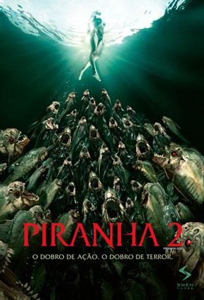 Capa do filme 'Piranha 2'