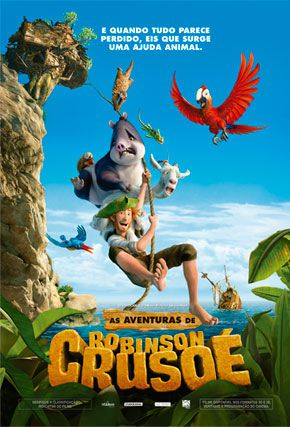 Capa do filme 'As aventuras de Robinson Crusoé'