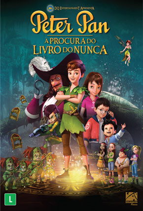 Capa do filme 'Peter Pan - À Procura do Livro do Nunca'